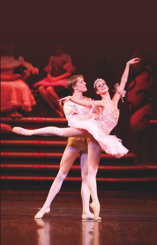 James Kopecki and Kristi Kleine in Butler Ballet's Nutcracker