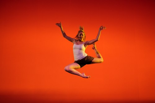Senior Dance Major Kristine Jones performs in David Parsons' 'Nascimento Novo'.