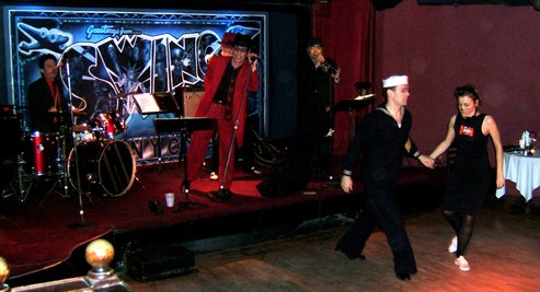 The NYC Blues Devils at Halloween at Swing 46