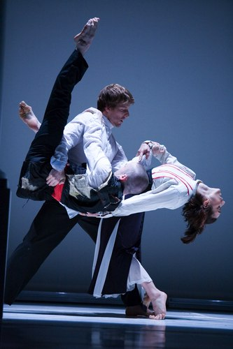 Bill T. Jones/Arnie Zane Dance Company's Serenade/The Proposition Dancers (Left to Right): Paul Matteson; Peter Chamberlin (being lifted); Maija Garcia