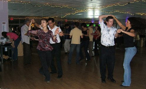 Swing dancing at Club 412