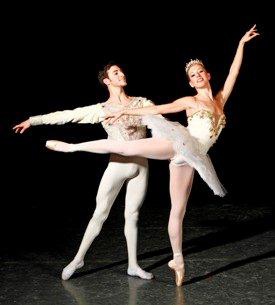 Butler Ballet's Garrett Glassman and Erin Langston in 'The Sleeping Beauty'
