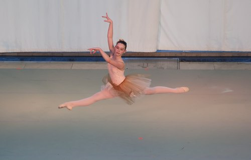 Indianapolis School of Ballet student Madeline Johnstone in I Vespri Siciliani Choreography by Victoria Lyras
