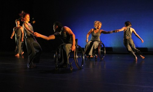 AXIS Dance Company's Light Shelter choreographed by David Dorfman. Dancers Sebastian Grubb, Sonsheree Giles, Rodney Bell, Alice Sheppard and Janet Das.