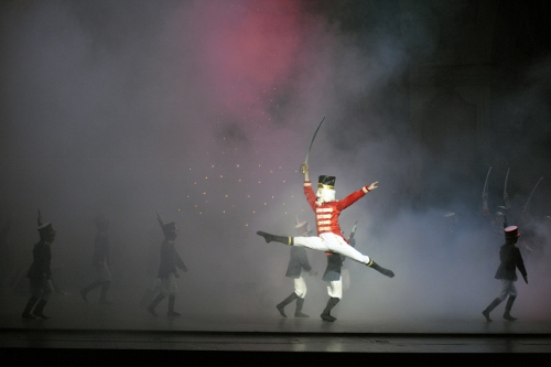 Austin Dowdy as the Nutcracker in  Indiana University Ballet Theater's 'The Nutcracker'.