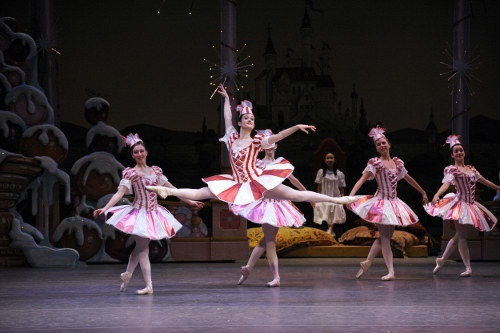 Elizabeth Martin as the lead Mirliton in Indiana University Ballet Theater's 'The Nutcracker'.