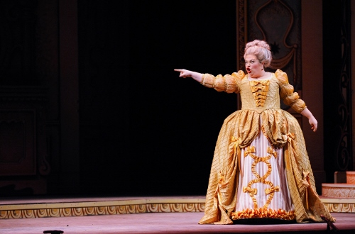 Eileen Jennings as Madame de la Haltière in IU Opera's 'Cendrillon'. Photo courtesy of IU Opera Theater.