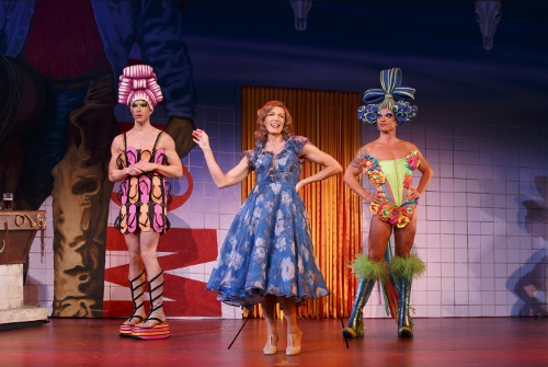 Left to Right: Wade McCollum as Mitzi, Scott Willis as Bernadette and Bryan West as Felicia in the number 'I Love the Nightlife'