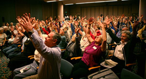 On Sept. 24, a capacity crowd of 120 residents at Channing House learned about the Anna Halprin senior citizen dance project/class being offered at Stanford. More than 50 seniors came to campus the week of October 2 to begin the intergenerational work that will culminate in a performance on Nov. 1.