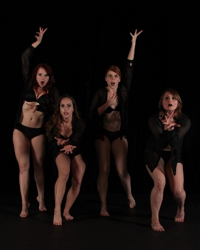 Left to right - Cassandra Richards, Lindsay Marquino, Erin Bond, Amanda Adams from 'Inhale'