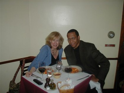 Roberta and Guest, Dr. Henri Delbeau, at <a href='http://www.lunapienanyc.com/amarone.htm'>Amarone Ristorante</a>, near the Ailey Dance Center