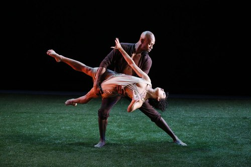 Grass Dancers: Rosie Lani Fiedelman with Chellamar Bernard Choreography by Jennifer Muller