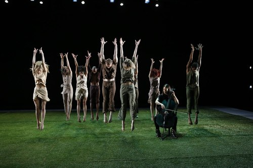 Grass Dancers: Company with Composer/Cellist Julia Kent Choreography by Jennifer Muller
