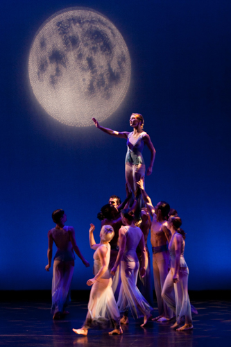 Melanie Schreiber and company in David Hochoy's 'Romeo and Juliet Fantasy'.