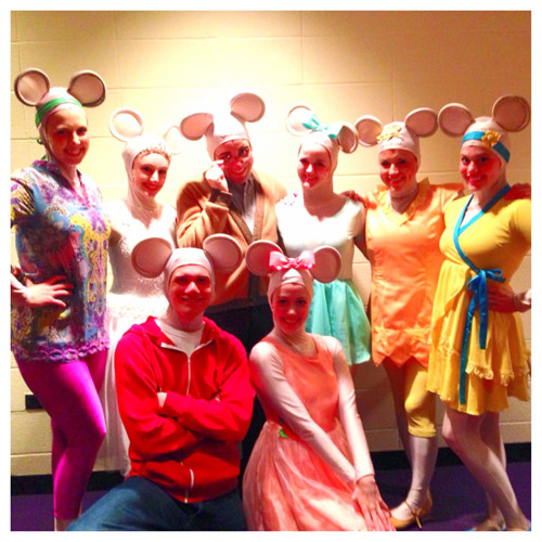 The current cast of 'Angelina Ballerina The Musical'. Photo courtesy of Taylor Gordon