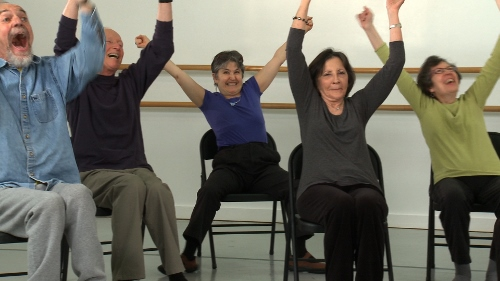 Members of Brooklyn Parkinson Group in Dance for PD at Mark Morris Dance Center. Photo David Bee.