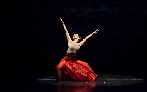 Dancer Sara E. Seger in Pascal Rioult's 'Views of the Fleeting World'.
