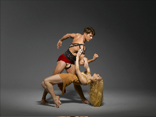Kenneth Topping and Erica Dankmeyer of Martha Graham Company perform 'Cave of the Heart'.