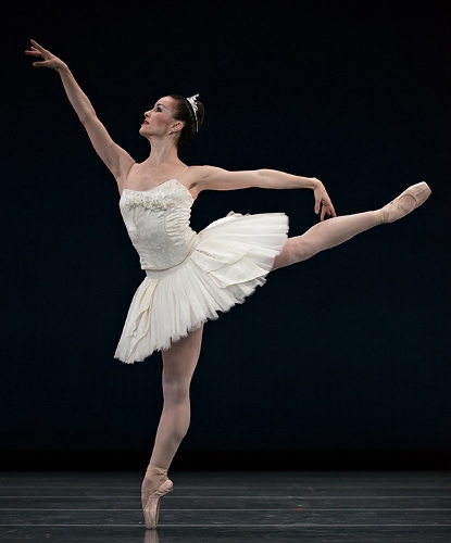 Cincinnati Ballet's Sarah Hairston in Balanchine's 'Symphony in C'.