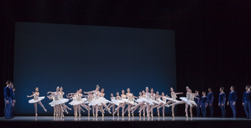 Cincinnati Ballet and BalletMet Columbus dancers in Balanchine's 'Symphony in C'.