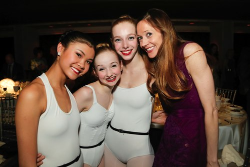 SAB dancers with Maria Kowroski.