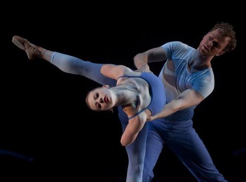 Grand Rapids Ballet dancers Cassidy Isaacson and Nicholas Schultz in Pedro Lozano Gomez's 'Juana'.