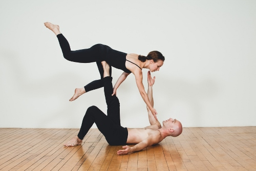 Inlet Dance Theatre's Joshua Brown and Elizabeth Pollert.