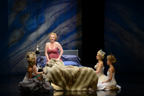 A scene from 'La Traviata' with Christa Ruiz at Musical Arts Center. Photo Courtesy of IU Opera and Ballet Theater.