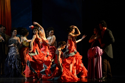 A scene from 'La Traviata' at Musical Arts Center. Photo Courtesy of IU Opera and Ballet Theater.