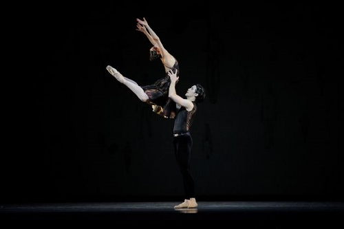 Sarah Van Patten and Carlos Quenedit in Symphony #9 from Ratmansky's 'Shostakovich Trilogy'