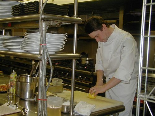 Jason Potanovich, Chef de Cuisine, in his Kitchen