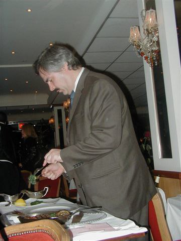 John Prepares Julienne's Grilled Dorade at Tableside