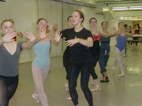 Deborah Wingert, Head Faculty, Manhattan Youth Ballet; Her Student Rehearsal