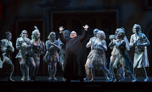 Shaun Rice as Uncle Fester in the 2013-2014 National Tour of The Addams Family.
