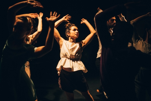 Megan Bascom & Dancers in kNEW kNOW (center: Rosie DeAngelo).