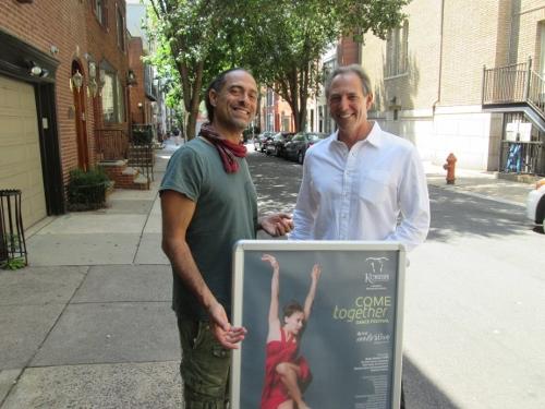 (L to R) Artistic director-choreographer Roni Koresh & KDC board president Steve Lazin.
