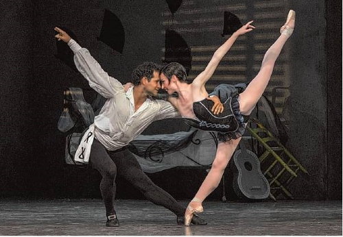 Ballet San Jose Artistic Director José Manuel Carreño takes the stage in Roland Petit's 1949 retelling of 'Carmen' as Don José, with Alexsandra Meijer in the title role.