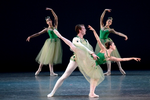IU Ballet Theater in George Balanchine 'Emeralds'.
