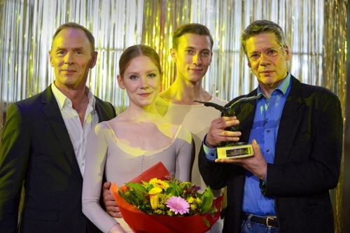 Pictured L to R: Ted Brandsen (director Het Nationale Ballet), Erica Horwood, Matthew Pawlicki-Sinclair, Ton Simons