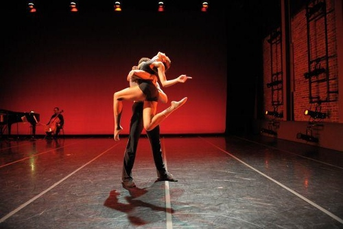 Dancers rehearse at ODC Theater for 'Sketch 4'.