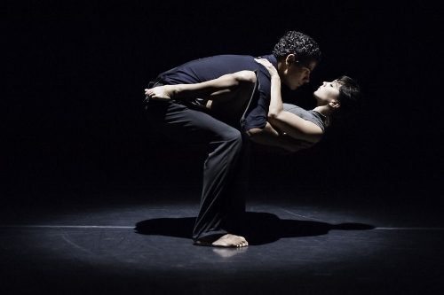 Joseph Hernandez and Natasha Adorlee Johnson in Kate Weare's 'Drop Down' as part of the Music Moves Festival at ODC Theater in San Francisco.