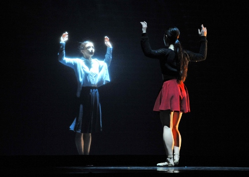 Royal Winnipeg Ballet dancers Alanna McAdie and Sophia Lee in 'Going Home Star - Truth and Reconciliation'.