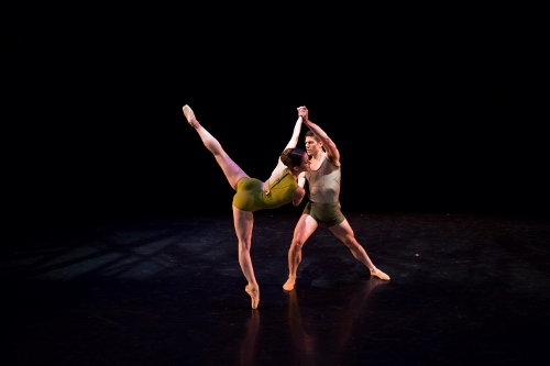 BalletMet dancers Caitlin Valentine Ellis and David Ward in Matthew Neenan's 'On the Other Side'.