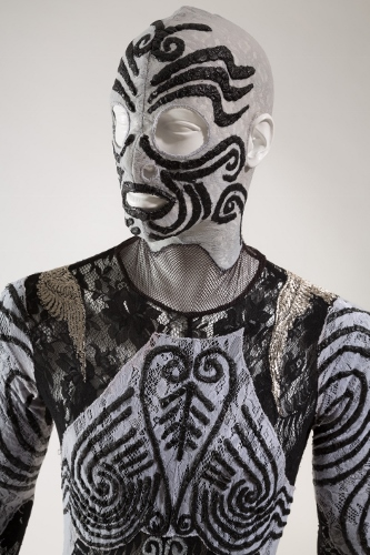 Jean Paul Gaultier, man's costume for Façade, un divertissement, 1993, lent by Maison Jean Paul Gaultier. Photograph © The Museum at FIT.