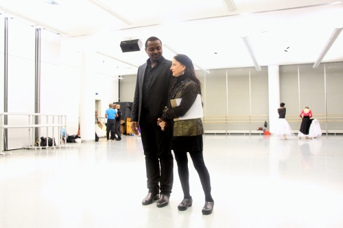 AAADT's Artistic Director Robert Battle and choreographer Jacqulyn Buglisi at a Suspended Women Rehearsal.