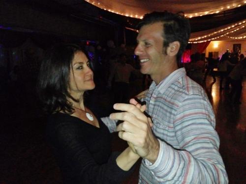 Jenna & Mark Salsa dancing