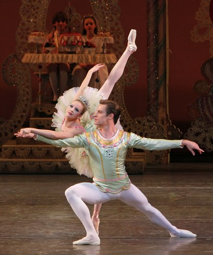 Sterling Hyltin as The Sugarplum Fairy and Andrew Veyette as Her Cavalier in NYCB's 'George Balanchine's The Nutcracker(TM)'