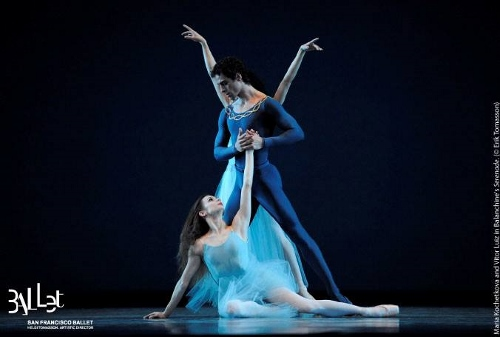 SF Ballet in Balanchine's 'Serenade.'