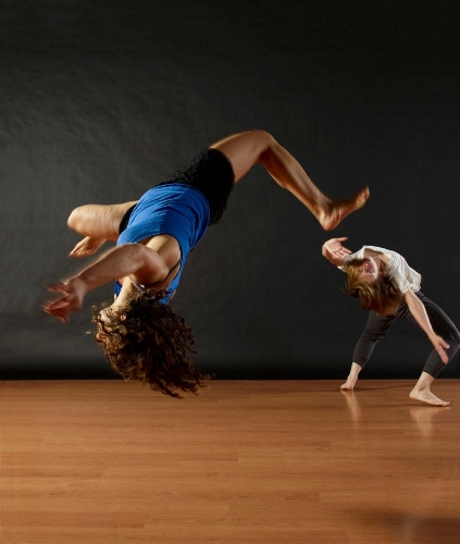 Shira Yaziv and Virginia Broyles in Scott Wells' 'The why ask why we dance dance.'