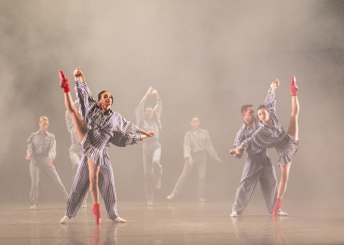 Ballet San Jose in Twyla Tharp's 'In the Upper Room.'